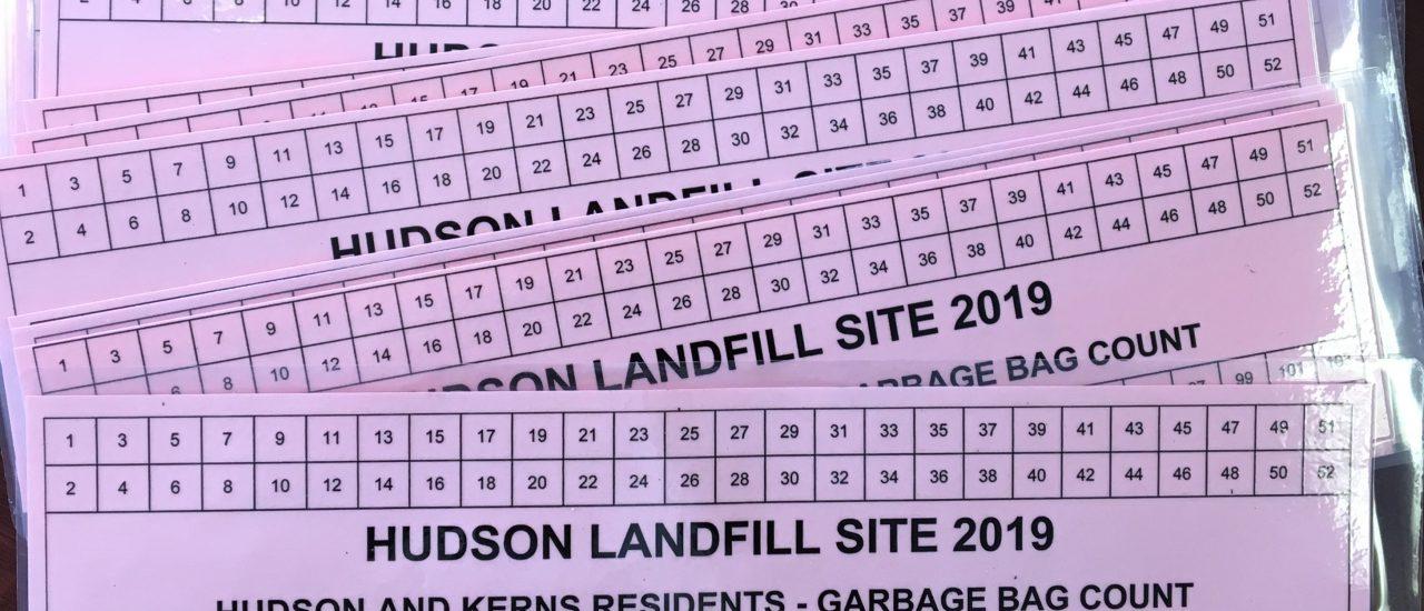 LANDFILL SITE – CARD PROGRAM FOR 2019